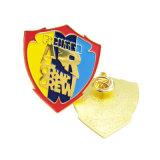 Perni di metallo placcati oro personalizzati poco costosi dello smalto con qualsiasi disegno di marchio (BG05-B)