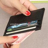 Suporte de cartão de couro real do crédito das multi cores