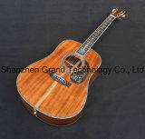 D45s de luxe en bois de Koa solide de la guitare acoustique avec incrustation d'ormeaux