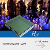 Decoração de casamento Novo design 3D LED do espelho de Dança