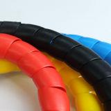 Butoir spiralé de plastique Wearproof de boyau pour le fil électrique