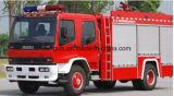 Caminhão de combate ao fogo que rola a porta