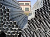 Tubos de acero galvanizados usados para los materiales del andamio