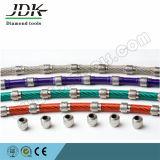 Parado el cable de diamantes de corte de sierra de bloque de mármol, granito