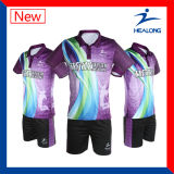 Healong 중국 제조 Sportsweat 승화 연소한 남자의 배드민턴 셔츠
