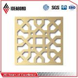 El panel compuesto de aluminio tallado CNC elegante
