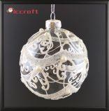 Ornamento di natale con la sfera di vetro sull'albero (LCP-A-0002)