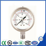 Oil Filled Vibration Proof Presses Gauge with Stainless Steel