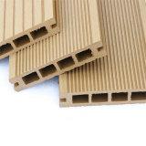 Decking composé en plastique en bois du panneau WPC de plancher creux