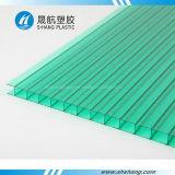 Panneau givré brillant approuvé de polycarbonate de Jumeau-Mur de GV
