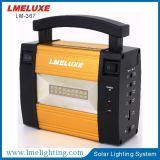 El panel solar de 3 W recargable con el sistema de iluminación de la carga del teléfono móvil de 3 bulbos del LED
