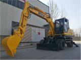 maquinaria de construcción de la excavadora de rueda 8.5T