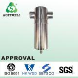 A qualidade superior da tubulação em Aço Inox Medidas Sanitárias 304 316 Filtro de água em aço inoxidável