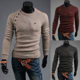 남자의 둥근 목에 의하여 뜨개질을 하는 스웨터 스웨터 긴 소매 도매