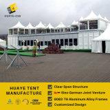 Tente en aluminium de double pont de crête élevée avec les couvertures blanches de toit de PVC et les murs en verre (HML)