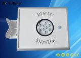 El sensor de movimiento infrarrojos lámpara solar calle LED integrado para la ruta