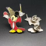 Chapado en oro personalizados baratos pins de metal esmaltado con cualquier diseño de logotipo (BG05-B).