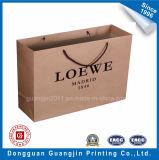 靴および衣服の包装のための高品質のブラウンクラフト紙のショッピング・バッグ