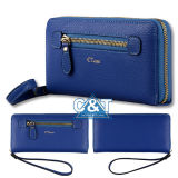 Ledernes Long Clutch Purse Card Holder Fall für Women