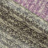 Couro artificial impresso malogrado Textured de madeira do saco do PVC da corda colorida