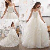 Neues Form-Organza-Dame-Kleidung-Kleid BrautBallgown Hochzeits-Kleid (5504)