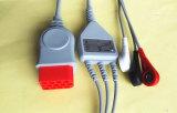 Кабель Leadwire ECG кнопки 3 Bionet 12pin Aha