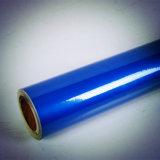 Cor azul que anuncia o tipo vinil reflexivo autoadesivo do animal de estimação da classe