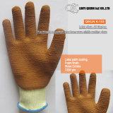 Gants fonctionnants de sûreté de pli d'onde de latex de couplage du coton K-149