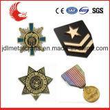 Emblema feito sob encomenda principal do material do metal e do xerife das técnicas do chapeamento