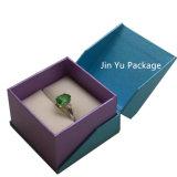 Синий цвет жесткой элегантных ювелирных украшений бумаги подарочной упаковки для уплотнительного кольца