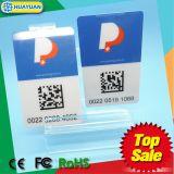 Cartão anunciando do estacionamento da freqüência ultraelevada RFID do PVC do costume UCODE7 do sistema