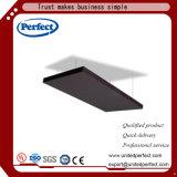 Materiales de decoración de fibra mineral negro techo acústico