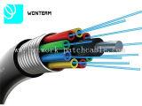 Faser-Kabel PET des Faser-Optikkabel-2-288cores GYTS/GYTA äußeres Hüllen-Schwarzes
