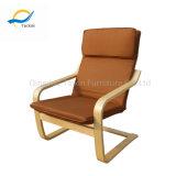 Silla de madera moderna cómoda recomendada receptor de papel con el marco del metal