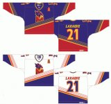 Customized Quebec Grande Liga de Hóquei Jr Granby Predateurs 1995-1997 Home Road Hóquei no Gelo Jersey