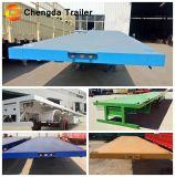 Marque Chengda Vente chaude 3 essieux 40FT conteneur semi-remorque de camion à plat