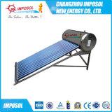 aço inoxidável tubo de vácuo de aquecedor solar de água com marcação CE