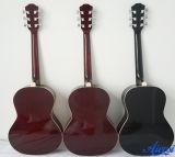 Guitarra acústica colorida nova de instrumento musical da chegada de Aiersi