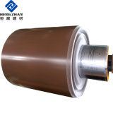PE/PVDF 1100 H24 du grain du bois/gaufré couché couleur imprimée/bobine en aluminium peint/feuille