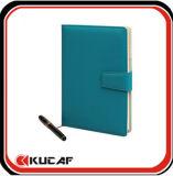 Cuaderno del diario de la PU con el borde del color (KCz-00082)