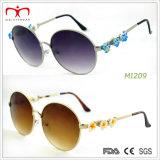 Óculos de sol do metal das senhoras do estilo da forma com decoração da flor (MI207-MI209)