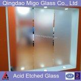 vidro geado moderado 12mm de 6mm 8mm 10mm para a porta do banheiro