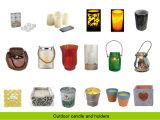 Grave a Laser Electroplate e suporte para velas de vidro com caixa Pet dentro de Pulverização