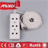 4 zoccolo del cavo elettrico del gruppo di bianco tre del collegare del tester multi