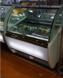 Verwendete Popsicle-Bildschirmanzeige/Eiscreme, die Schrank-Gefriermaschine eintaucht
