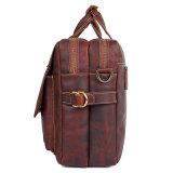 """人のための中国の製造業者のCustomziedの赤茶色の革15 """"ラップトップビジネス袋"""