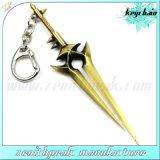 Modo che fa pubblicità all'anello di Keychain di figura della spada del metallo del regalo