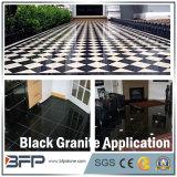 Natürlicher schwarzer Granit für Fußboden-Fliese, Pflasterung-Stein, Treppe, Fenster-Schwellbalken, Countertop