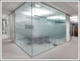 O espaço livre/coloriu/vidro Tempered geado para a prateleira, corrimão, escadas, porta, cerca, mobília, construindo