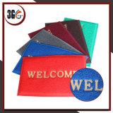 Couvre-tapis de porte de PVC de qualité, couvre-tapis de porte bienvenu